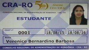 CRA-RO emite carteira de estudante para graduandos de Administração