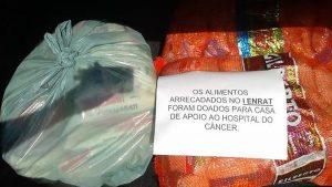 CRA-RO doa alimentos à casa de apoio do hospital do câncer