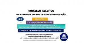 Processo Seletivo – Coordenação do curso de Administração