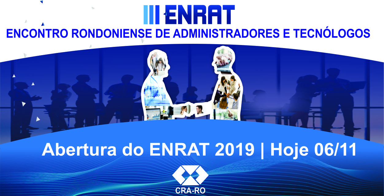 Abertura do ENRAT 2019 será nesta quarta