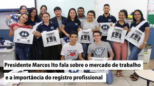 Presidente do CRA-RO faz palestra para alunos do Senac