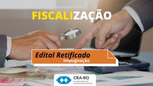 Por meio de impugnação, CRA-RO consegue retificação de edital de pregão eletrônico
