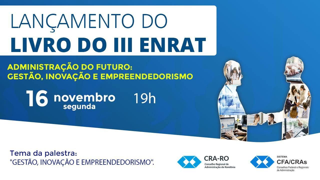 CRA-RO lança livro do III ENRAT na segunda, dia 16