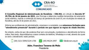 Comunicado CRA-RO