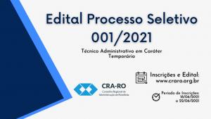 Processo Seletivo Simplificado 2021 CRA-RO